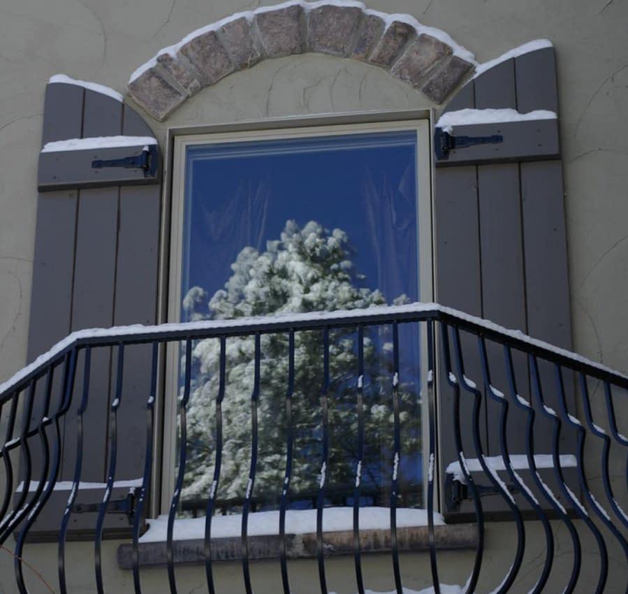 Evergreen's bath window is cozy.